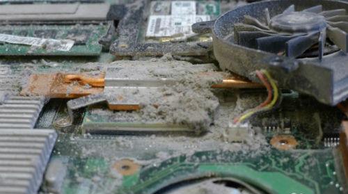 Чистка компьютеров от пыли грязи